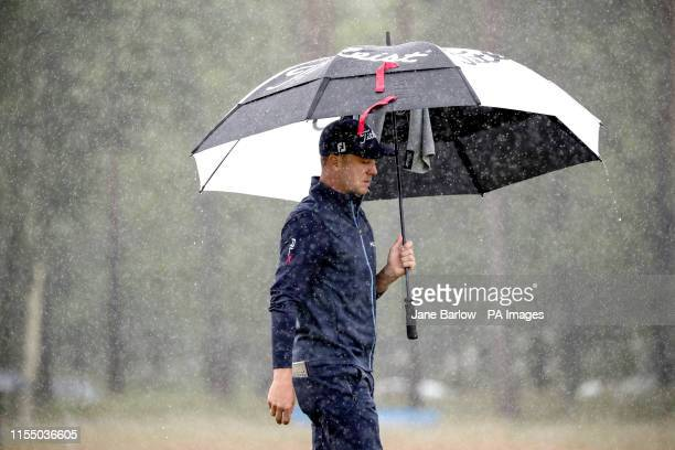 S Justin Thomas on the 11th hole during day one of the Aberdeen Standard Investments Scottish Open at The Renaissance Club, North Berwick.