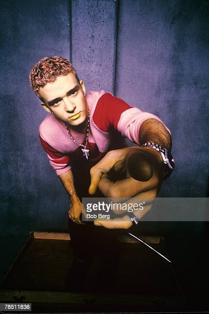 THIS IMAGE WAS CREATED USING COLOR INFRA RED FILM *NSYNC's Justin Timberlake poses for an August 1999 portrait in Los Angeles California