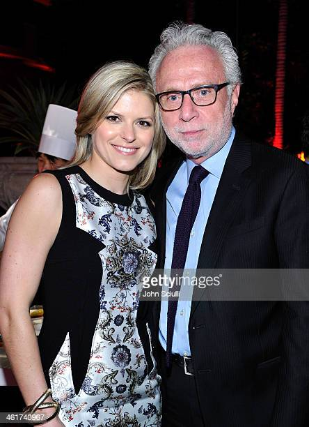 CNN's Kate Bolduan and CNN anchor Wolf Blitzer attend the 2014 TCA Winter Press Tour CNN AfterParty on January 10 2014 in Pasadena California