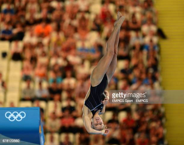 S Katie Bell in action during the Women's 10m Platform Semi Final Round at the Aquatic Centre