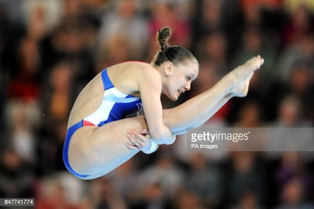 USA's Katie Bell in the Women's 10m Platform event