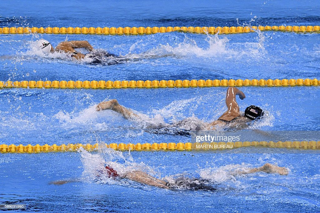 TOPSHOT-SWIMMING-OLY-2016-RIO : News Photo