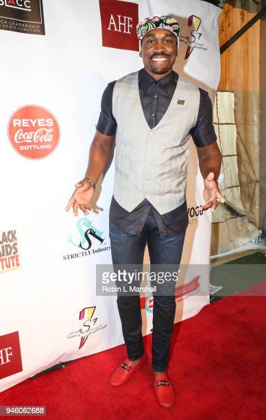 NBA's Kbwe Trim attends the 12th Annual Santee High School Fashion Show at Los Angeles Trade Technical College on April 13 2018 in Los Angeles...