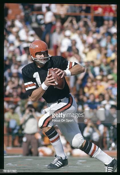 CINCINNATI OH CIRCA 1970's Ken Anderson of Cincinnati Bengals drops back to pass during circa 1970's NFL football game at Riverfront Stadium in...