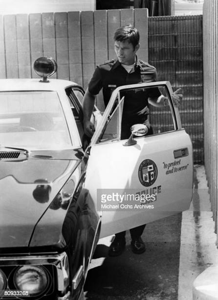 LOS ANGELES EARLY 1970's Kent McCord costar of the hit 1970's TV show Adam 12 in a scene from the early 1970's in Los Angeles California