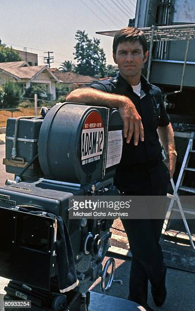 LOS ANGELES EARLY 1970's Kent McCord costar of the hit 1970's TV show Adam 12 poses for the camera on the set in the early 1970's in Los Angeles...