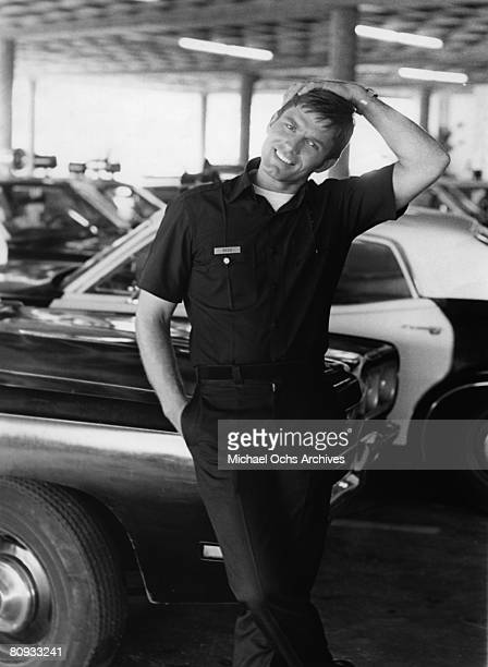 LOS ANGELES EARLY 1970's Kent McCord costar of the hit 1970's TV show Adam 12 relaxes on the set in the early 1970's in Los Angeles California