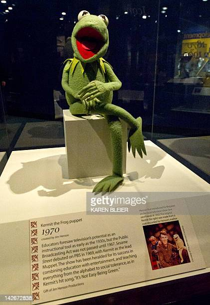 A 1970's Kermit the Frog puppet from Sesame Street is on display on April 11 2012 at the Smithsonian Mueseum of American History in Washington DC...