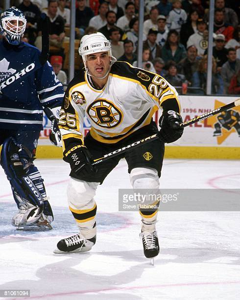 BOSTON MA 1990's Kevin Stevens of the Boston Bruins skates in game at the Fleet Center in Boston