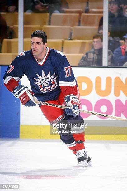 BOSTON MA 1990's Kevin Stevens of the New York Rangers in pre game action against the Boston Bruins