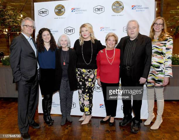 CMHOF's Kyle Young Abi Tapia LSMF honoree Bonnie Garner honoree Marcie Allen honoree Bebe Evans Gary Scruggs and CMHOF's Lisa Purcell attend the...