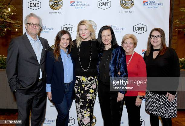 CMHOF's Kyle Young CMT's Rachael Wall honoree Marcie Allen SVP of Music Strategy for CMT Leslie Fram honoree Bebe Evans and CMT SVP of Operations...