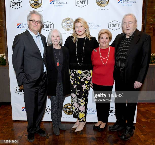 CMHOF's Kyle Young LSMF honoree Bonnie Garner honoree Marcie Allen honoree Bebe Evans and Gary Scruggs attend the Twelfth Annual Louise Scruggs...