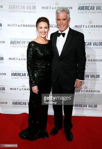 CNN's Kyra Phillips and Fox's John Roberts attend the American Veterans Center's 2019 American Valor A Salute to Our Heroes Veterans Day Special at...