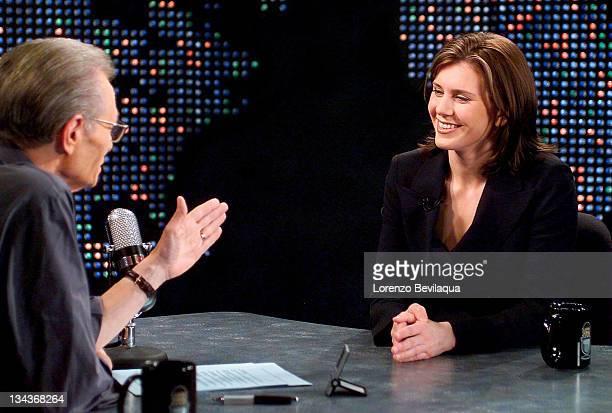 CNN's Larry King interviews Alexis Stewart daughter of Martha Stewart during a taping of Larry King Live on Monday March 15 2004 The show will air...