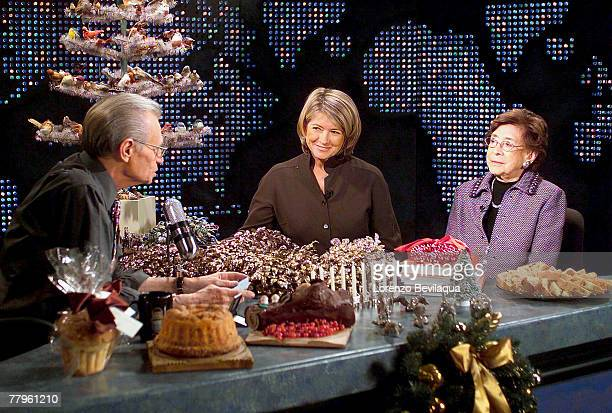 S Larry King interviews Martha Stewart, and her mother, Martha Kostyra , during a taping of Larry King Live on Saturday, December 20, 2003. This is...
