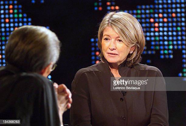 S Larry King interviews Martha Stewart during a taping of Larry King Live on Saturday, December 20, 2003. This is Martha Stewart's final interview...