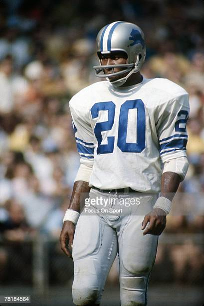 S: Lem Barney of the Detroit Lions is on the field against the San Francisco 49ers during a late circa 1960's NFL football game at Kezar Stadium in...
