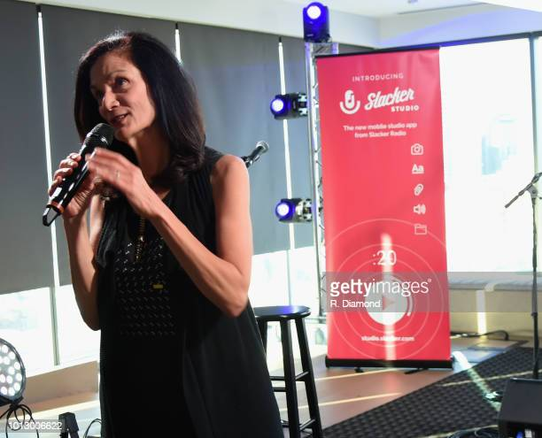 CMT's Leslie Fram attends Change the Conversation Slacker Radio #WCE Country Launch Party at The Steps at WME on August 7 2018 in Nashville Tennessee