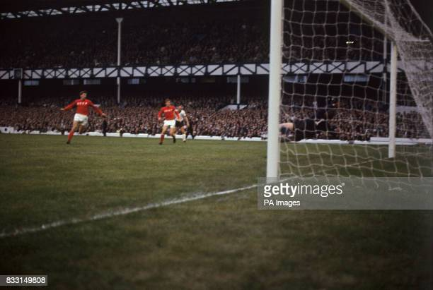 USSR's Lev Yashin dives in vain and Germany go one up