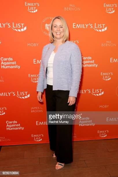 EMILY's List President Stephanie Schriock attends EMILY's List's Resist Run Win PreOscars Brunch on February 27 2018 in Los Angeles California