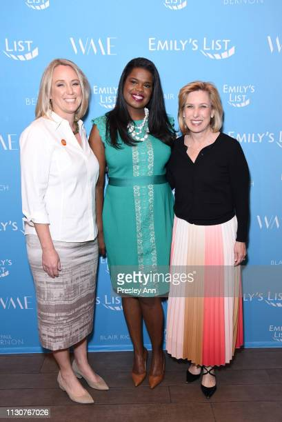 EMILY's List President Stephanie Schriock Kim Foxx and Wendy Greuel attend Raising Our Voices Supporting More Women in Hollywood Politics at Four...