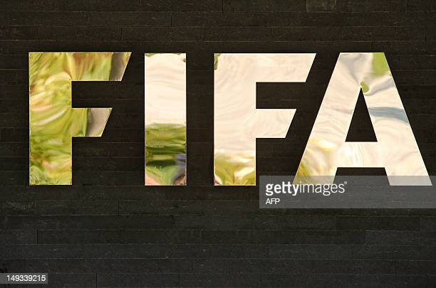 FIFA's logo is displayed at FIFA's headquarter on July 27 in Zurich AFP PHOTO / SEBASTIEN BOZON