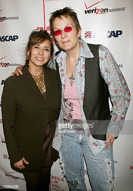 ASCAP's Loretta Munoz and musician Mary Gauthier pose at the ASCAP Tribeca Music Lounge held at the Canal Room during the 2007 Tribeca Film Festival...