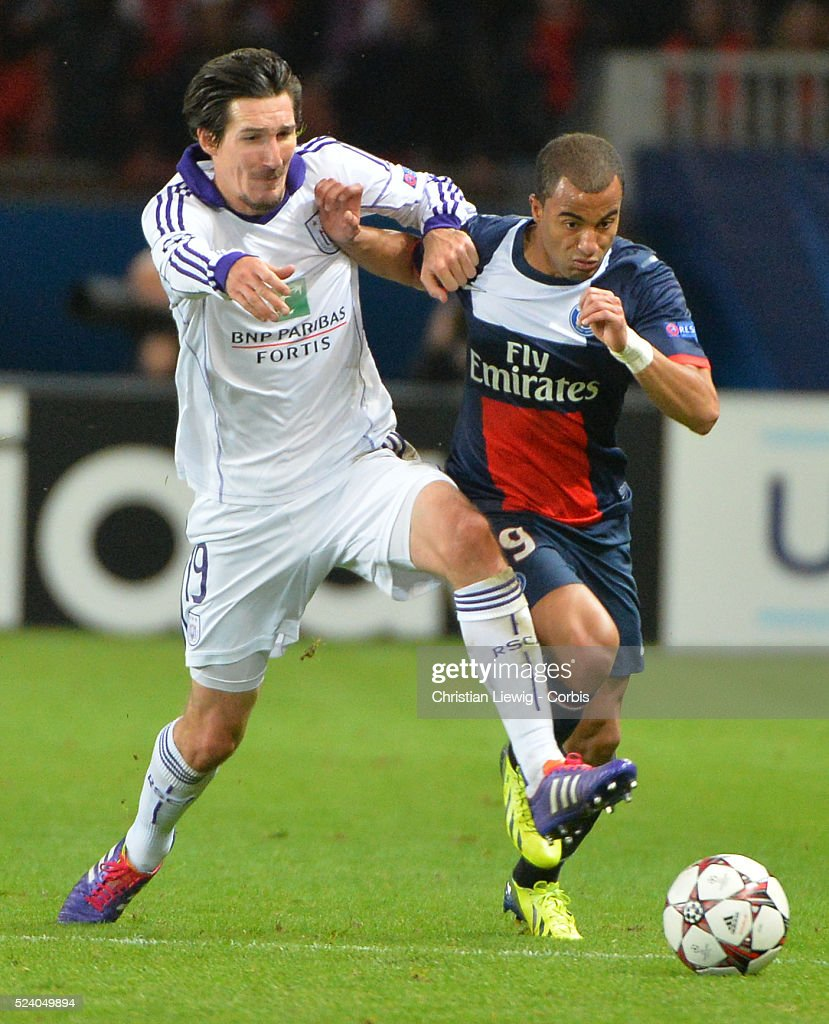 PSG's Lucas Moura During The UEFA Champions League, Group