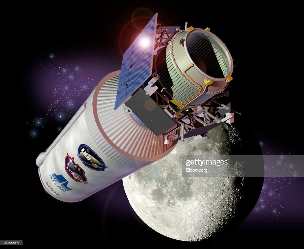 NASA's Lunar Reconnaissance Orbiter, or LRO, is shown in this undated artist's rendering released by the space agency on Thursday, June 18, 2009. NASA will launch the LRO and the Lunar Crater Observation Sensing Satellite, or Lcross, today to map the Earth's moon and search for frozen water.