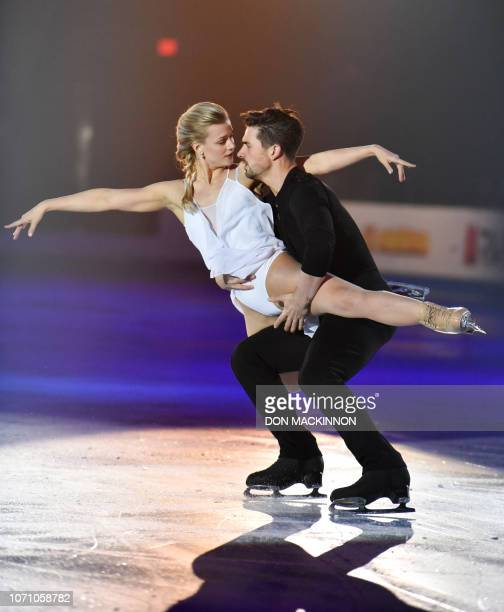 S Madison Hubbell and Zachary Donohue perform in the Exhibition Gala at the ISU Grand Prix of Figure Skating Final 2018-19 on December 9, 2018 in...