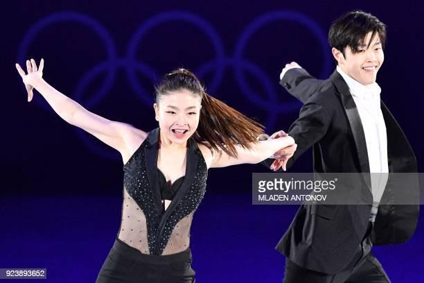 TOPSHOT USA's Maia Shibutani and USA's Alex Shibutani perform during the figure skating gala event during the Pyeongchang 2018 Winter Olympic Games...
