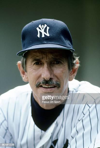 BRONX NY CIRCA 1980's Manager Billy Martin of the New York Yankees on the dougout steps before a MLB baseball game circa mid 1980's at Yankee Stadium...
