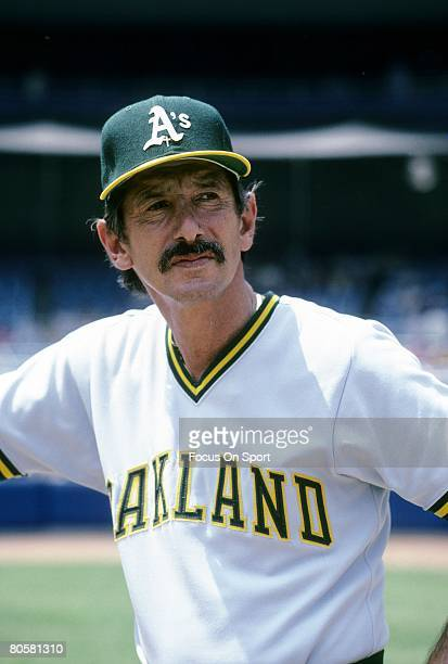 CIRCA 1980's Manager Billy Martin of the Oakland Athletics leans up against the batting cage before a MLB baseball game circa early 1980's Martin...