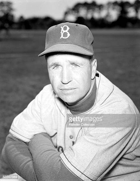 BEACH FL 1950's Manager Walt Alston of the Brooklyn Dodgers poses for a portrait during Spring Training circa 1950's in Vero Beach Florida Alston...
