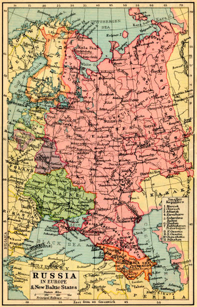 A 1930\'s map of Russia in Europe and the New Baltic States Pictures ...