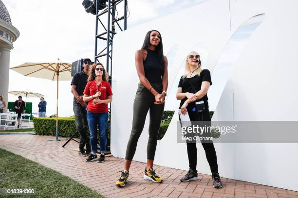 ESPN's Maria Taylor leads a panel on breaking barriers in sports media at the espnW Summit held at Resort at Pelican Hill on October 2 2018 in...