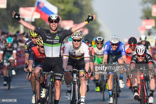 S Mark Cavendish from Dimension Data wins the opening stage, a 189 km Emirates Motor Company stage from Madinat Zayed-Baynounah Educational Comples...