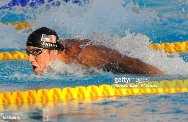 USA's Michael Phelps in action in the Men's 200m Butterfly Final