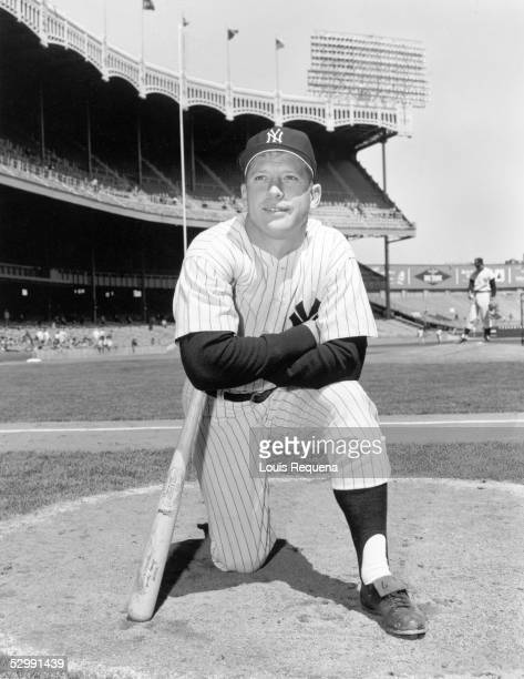 BRONX NY 1960's Mickey Mantle of the New York Yankees poses before an MLB game circa 1960's at Yankee Stadium in the Bronx New York Mantle played for...