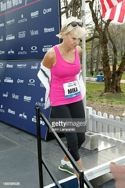 MSNBC's Mika Brzezinski attends the 10th Annual More Magazine/Fitness Magazine's Women's HalfMarathon at Central Park on April 14 2013 in New York...