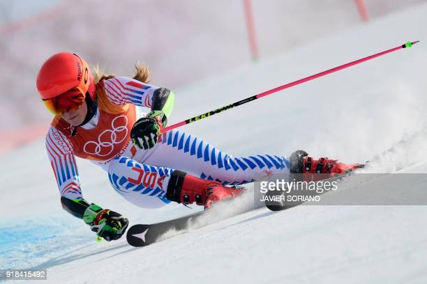 TOPSHOT USA's Mikaela Shiffrin competes in the Women's Giant Slalom at the Yongpyong Alpine Centre during the Pyeongchang 2018 Winter Olympic Games...