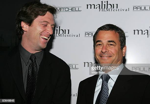CAA's Mike Nilon and Rick Kurtzman attend the 6th Annual Malibu Film Festival Awards Night at Granita on April 18 2005 in Malibu California