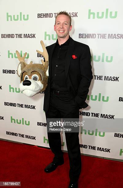 NBA's Milwaukee Bucks' Bango mascot Kevin Vanderkolk at Hulu Presents The LA Premiere Of 'Behind the Mask' at the Vista Theatre on October 24 2013 in...