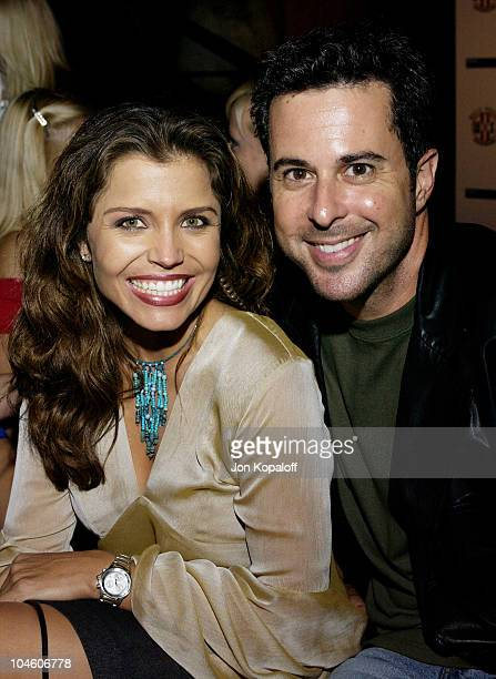 KTLA's Mindy Burbano and Jonathan Silverman during The World Sports Exchange's First Summer Bed Party Invites Hollywood To Bed at Garden Of Eden in...