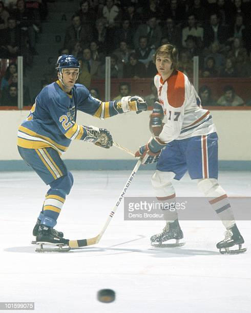MONTREAL 1970's Murray Wilson of the Montreal Canadiens skates in the 1970's at the Montreal Forum in Montreal Quebec Canada Girchrist played for the...