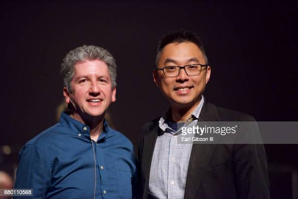 SJO's musical director Mitch Glickman and composer Alan Chan attend the Symphonic Jazz Orchestra celebrates 15th Anniversary and Ella Fitzgerald's...