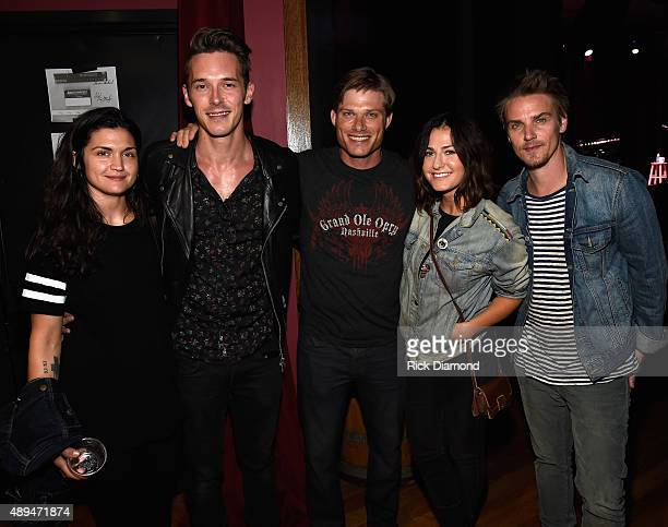 ABC's NASHVILLE cast members Sam Palladio Chris Carmack and Charlie Bewley attend the 16th Annual Americana Music Festival Conference Day 1 at City...