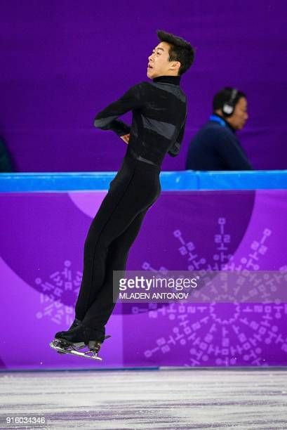 USA's Nathan Chen competes in the figure skating team event men's single skating short program during the Pyeongchang 2018 Winter Olympic Games at...