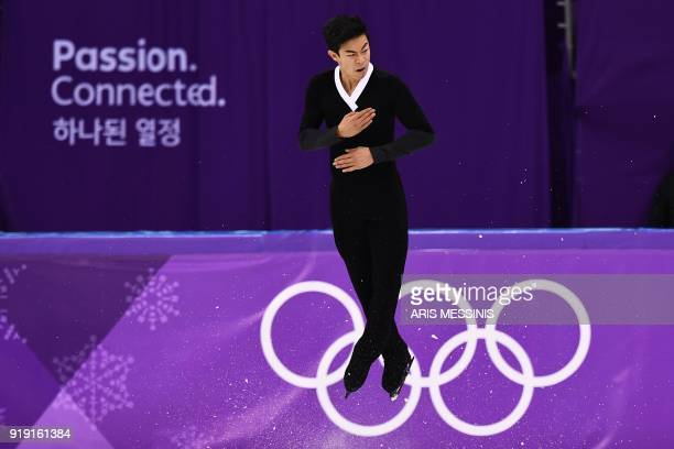 TOPSHOT USA's Nathan Chen competes in the men's single skating free skating of the figure skating event during the Pyeongchang 2018 Winter Olympic...